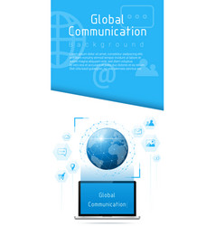 global communication and connection concept vector image