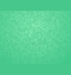 green hexagon texture vector image