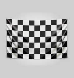 hanging checkered flag race or winner flag vector image
