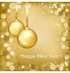 Happy New Year Beautiful Gold Design vector