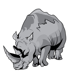 High Quality Rhinoceros Cartoon vector image