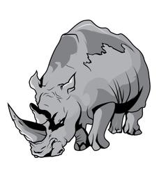 High quality rhinoceros cartoon vector