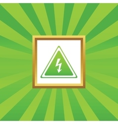 High voltage picture icon vector image