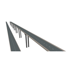 Highway on supports 3d vector