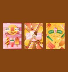 ice cream shop banner vector image