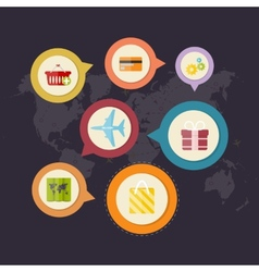 Infographics purchase and delivery goods vector