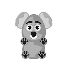 isolated cute happy koala on white background vector image