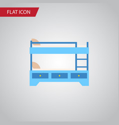 Isolated hostel flat icon bunk bed element vector