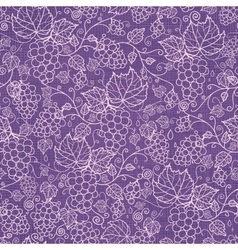 Lace grape vines seamless pattern background vector