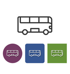 line icon bus in different variants vector image