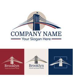 logo brooklyn vector image