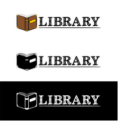 logo for library vector image