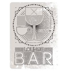 lounge bar menu grunge geometric pattern design vector image