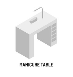 Manicure table beauty salon furniture isolated vector