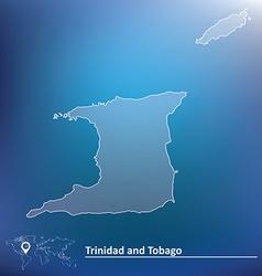 Map of Trinidad and Tobago vector