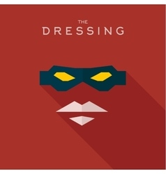 Mask Dressing Hero superhero flat style icon vector image