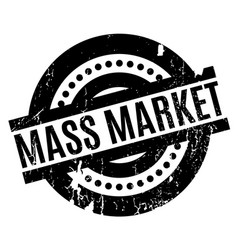 mass market rubber stamp vector image