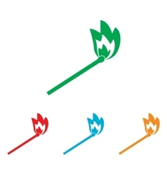 Match sign Colorfull set vector image