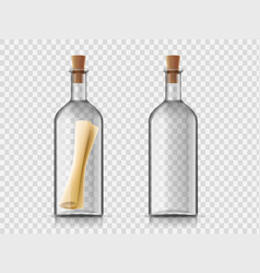 Message in a glass bottle vector