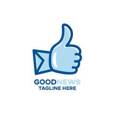 modern good news and mail logo vector image