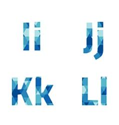 Modern Style Blue Alphabets Set vector