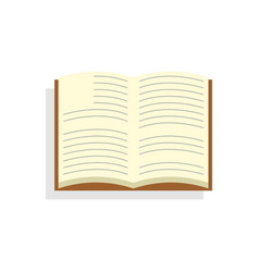 Open book icon on isolated background vector