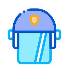 policeman swap helmet icon outline vector image