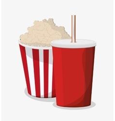 Pop corn and soda design vector image