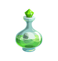 potion on halloween poison with human eye vector image