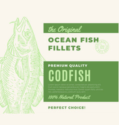 Premium quality fish fillets abstract fish vector