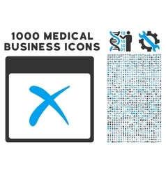 Reject Calendar Page Icon With 1000 Medical vector