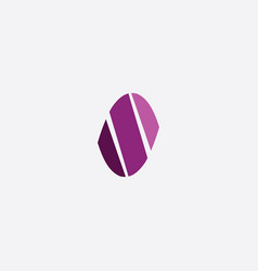 s logo letter purple icon logotype element vector image