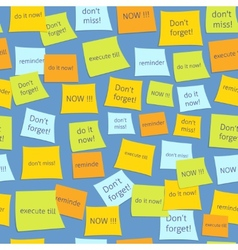 Seamless business sticky notes vector image
