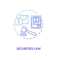 Securities law concept icon vector