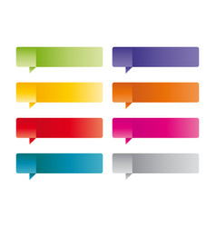 set of colored label vector image