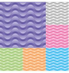 set wavy stream seamless pattern vector image