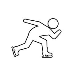 Skating skate silhouette person shoe winter icon vector