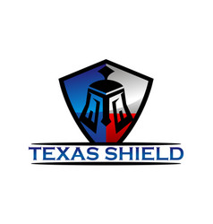 texas shield vector image