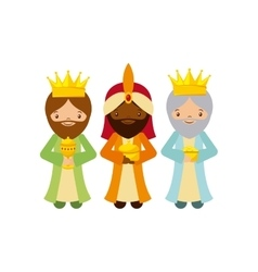 three wise men design vector image