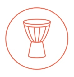 Timpani line icon vector
