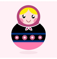 Traditional Russia doll Matrioshka - pink vector