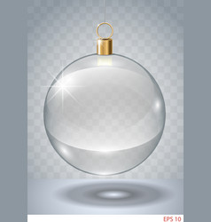 Transparent glass bauble vector