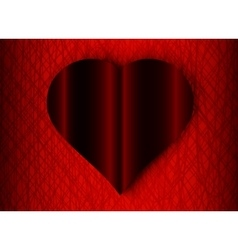 Valentine Day black heart on red background vector