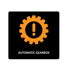 warning dashboard car icon automatic gearbox vector image