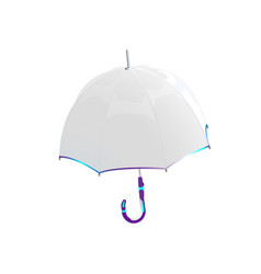 white umbrella protection against bad weather vector image