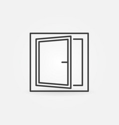 window concept icon or symbol in line style vector image