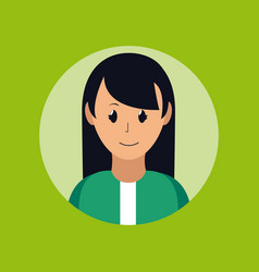 Woman smiling profile vector