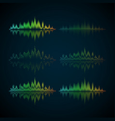 a set of musical waves in the form of equalizer vector image vector image