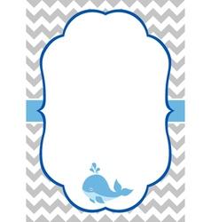 Baby boy invitation card vector