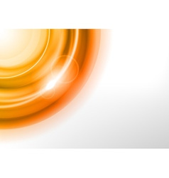 background orange light corner round vector image